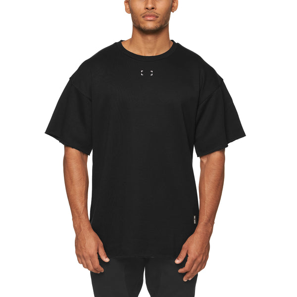 0339. French Terry Oversized Tee - Black