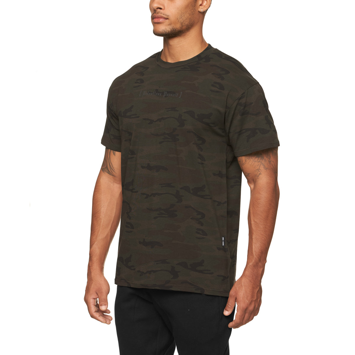 0390. Supima® Essential Tee - Dark Camo