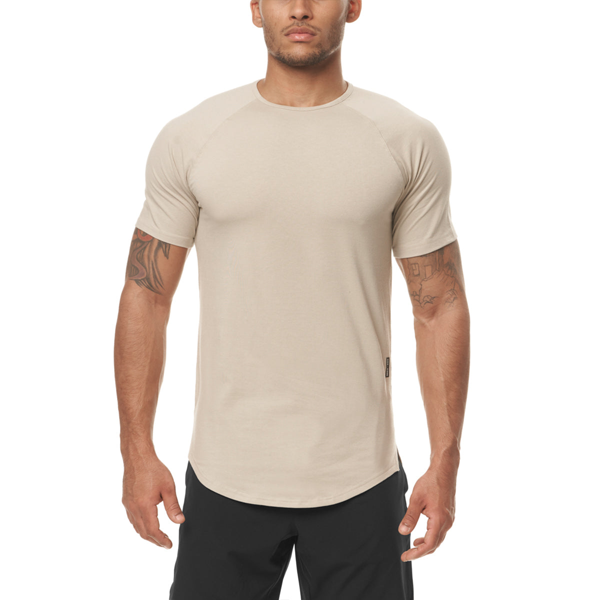 0395. Supima® Established Tee - Sand Smoke