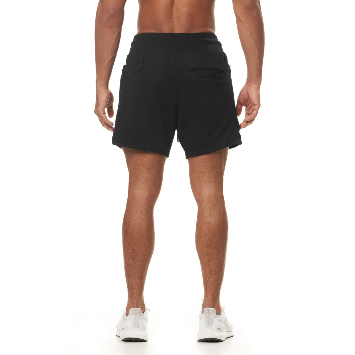 0398. French Terry Sweat Shorts - Black