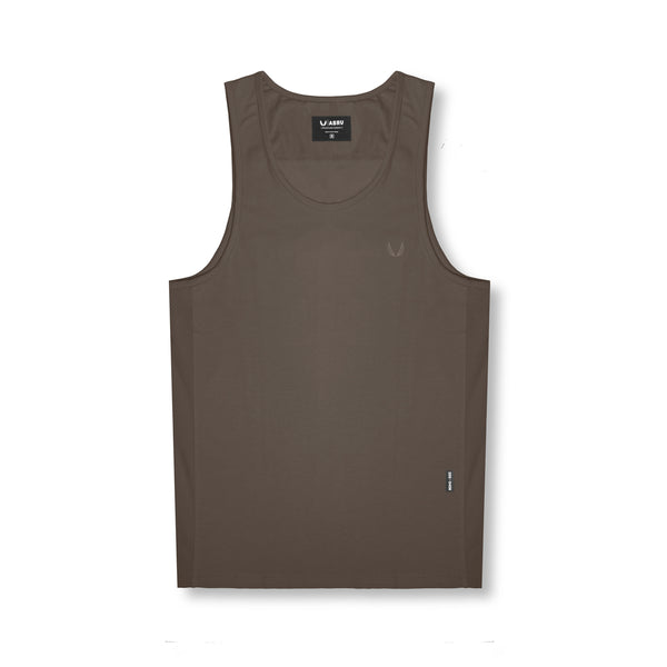 0408. Supima® Mesh Panel Tank Top - Deep Taupe