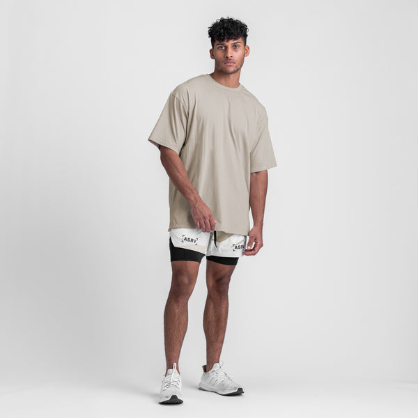 0427. Supima® Oversized Tee - Sand Smoke