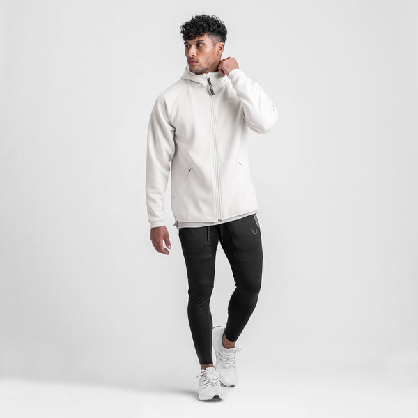 0430. Coolever™ Full Zip Hoodie - Ivory Cream