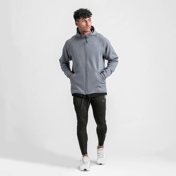 0430. Coolever™ Full Zip Hoodie - Athletic Grey