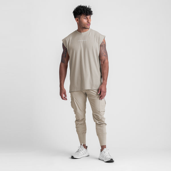 0439. Supima® Oversized Cutoff - Sand Smoke