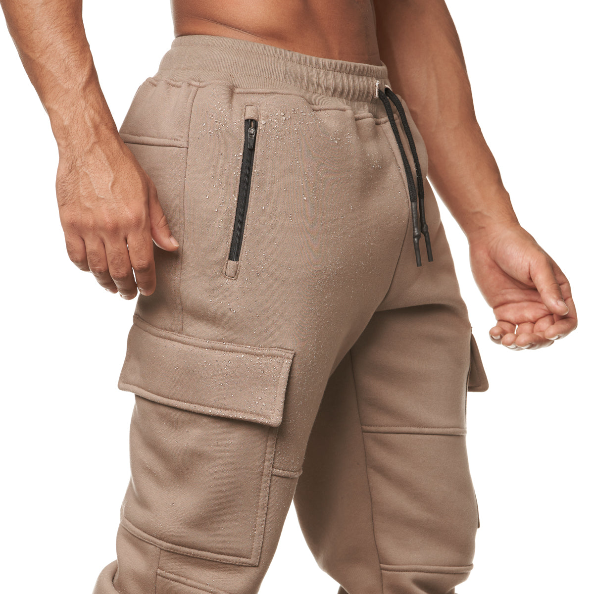 0217. RainPlus™ Cargo Snap Button Jogger - Greige