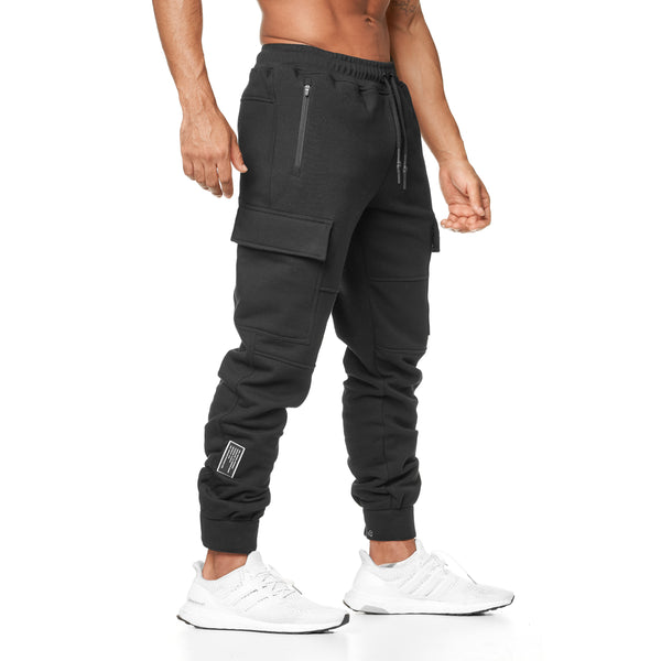 0217. RainPlus™ Cargo Snap Button Jogger - Black