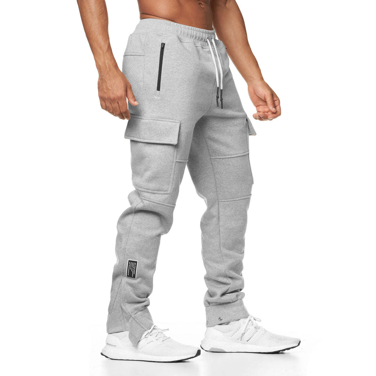 0217. RainPlus™ Cargo Snap Button Jogger - Heather Grey