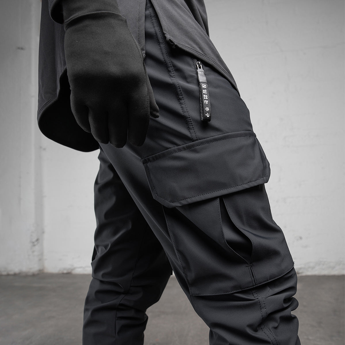 0350. TETRA® Cargo High Rib Jogger - Black