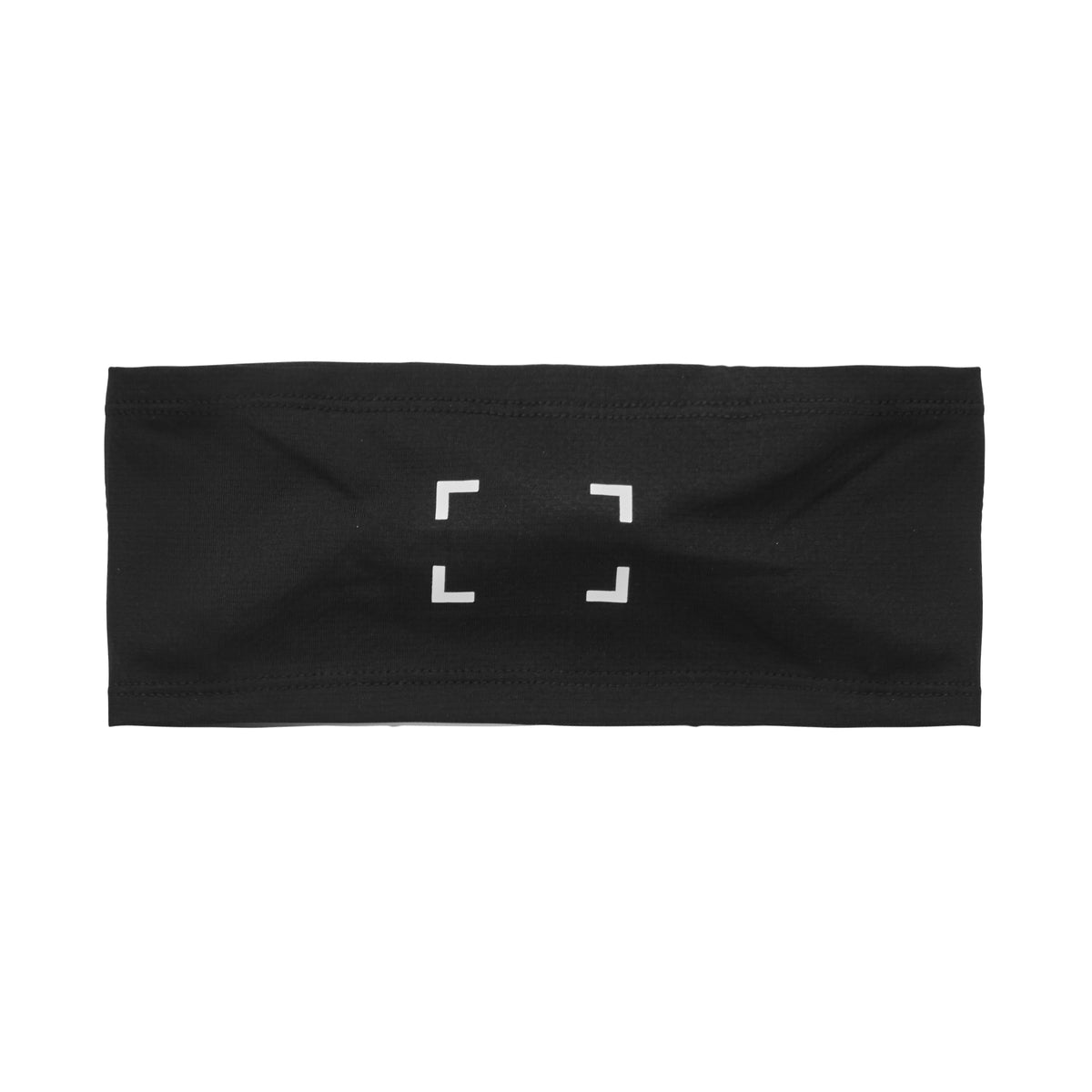 0249. Silver-Lite® Bracket Logo Headband - Black