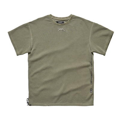 0240. SilverPlus® Technical Cinch Tee - Washed Olive