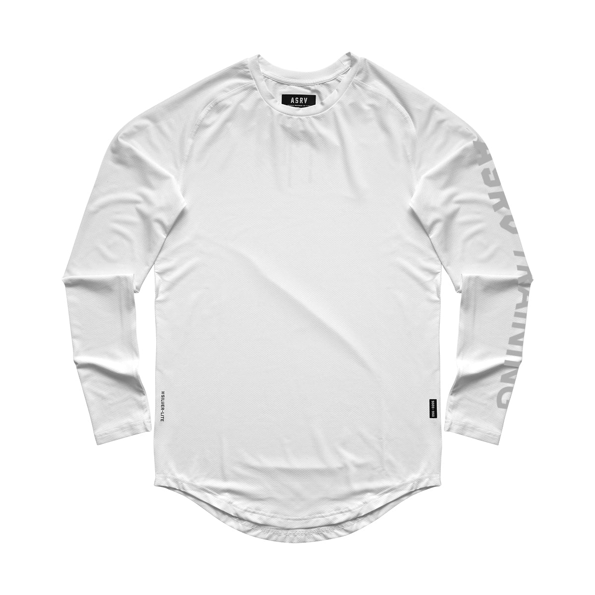 0205. Silver-Lite® Logo Long Sleeve - White