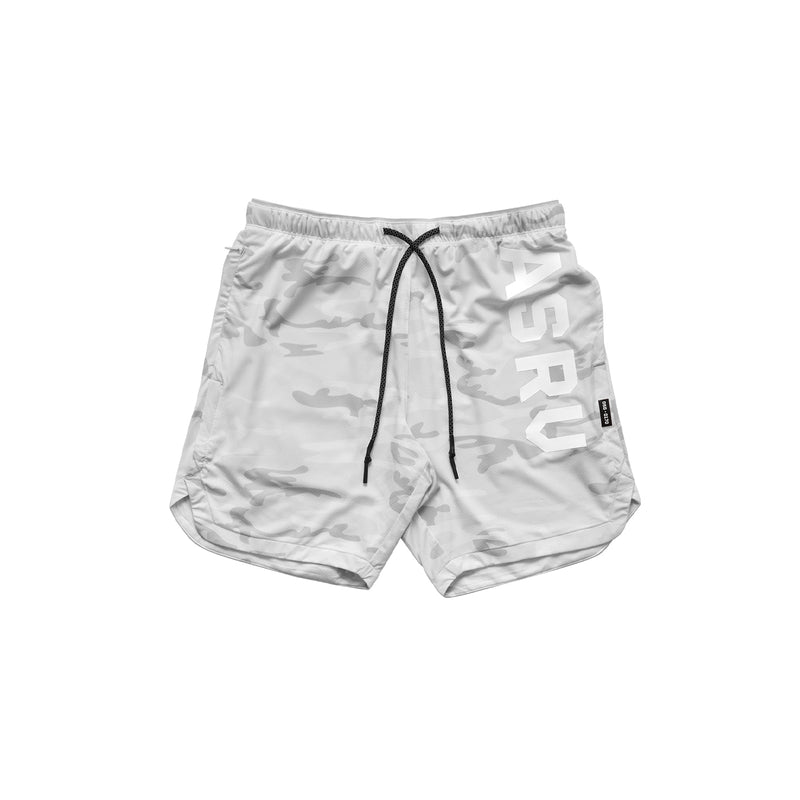 "0170. Silver-Lite® 7"" Linerless Short - White Camo"