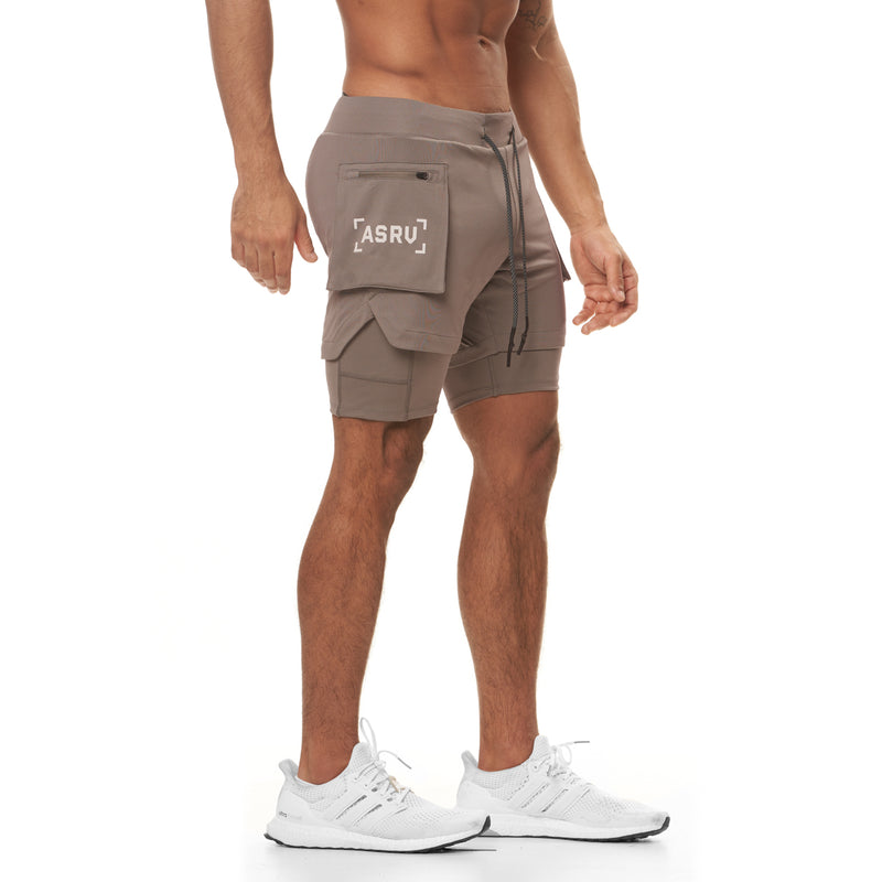 "0258. Silver-Lite® 5"" Liner Cargo Short - Light Taupe"
