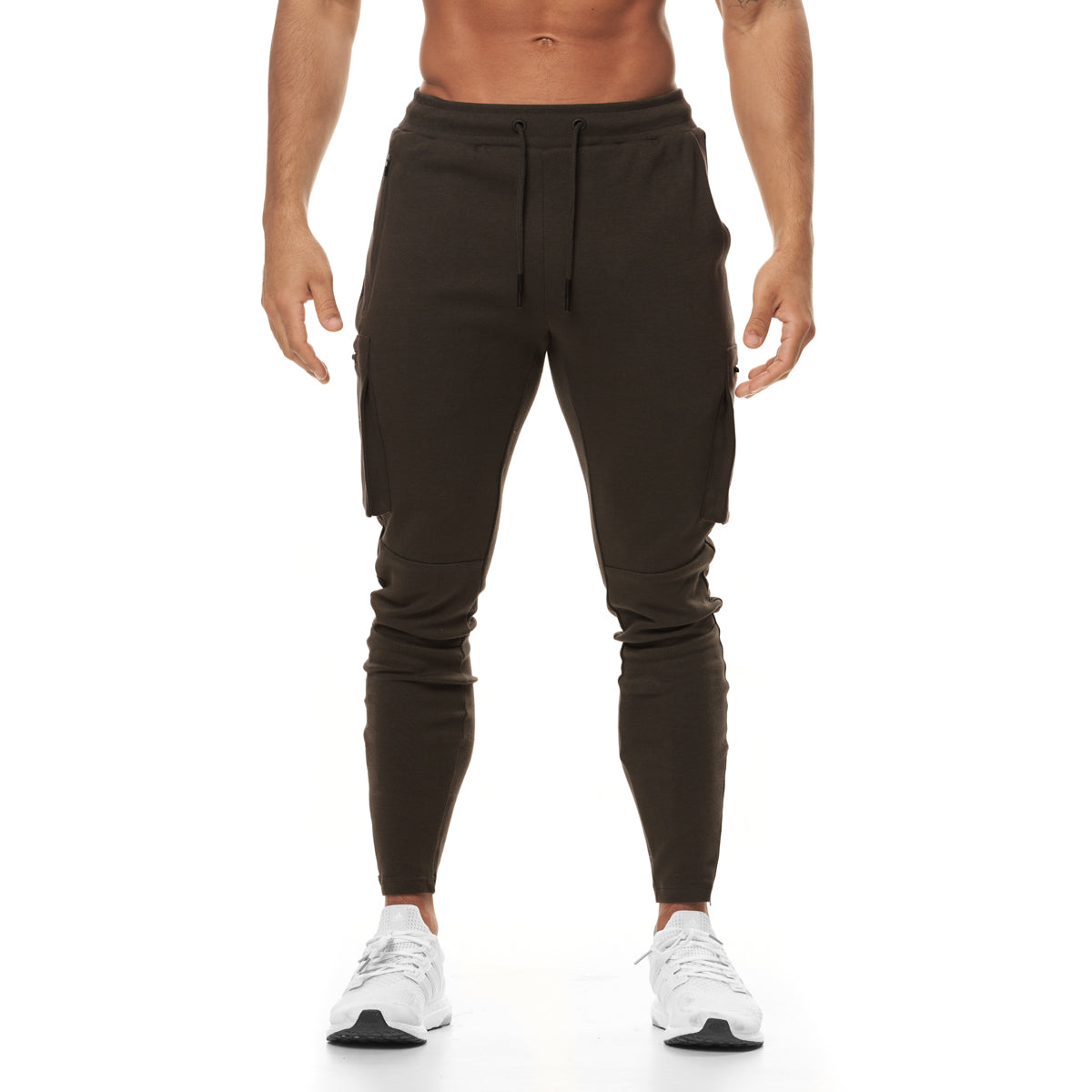 0400. Core Division Cargo Zip Jogger - Dark Earth