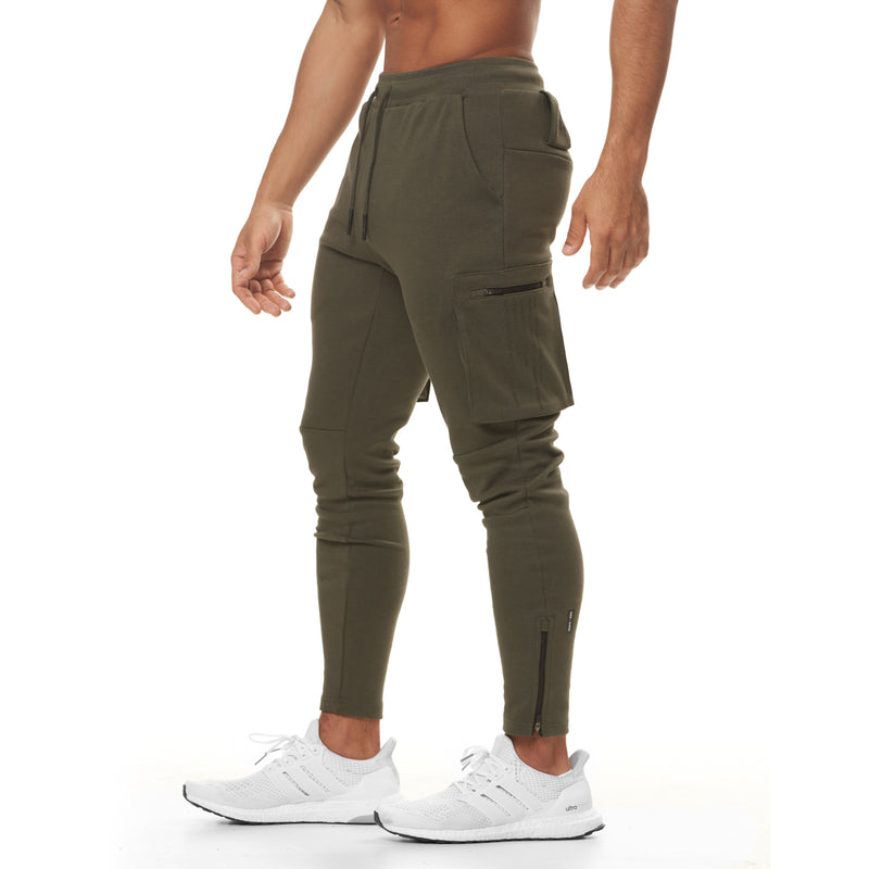 0400. Core Division Cargo Zip Jogger - Olive
