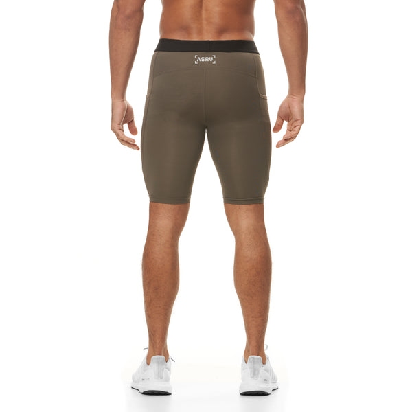 0286. SilverPlus® Side Pocket Baselayer Short - Deep Taupe