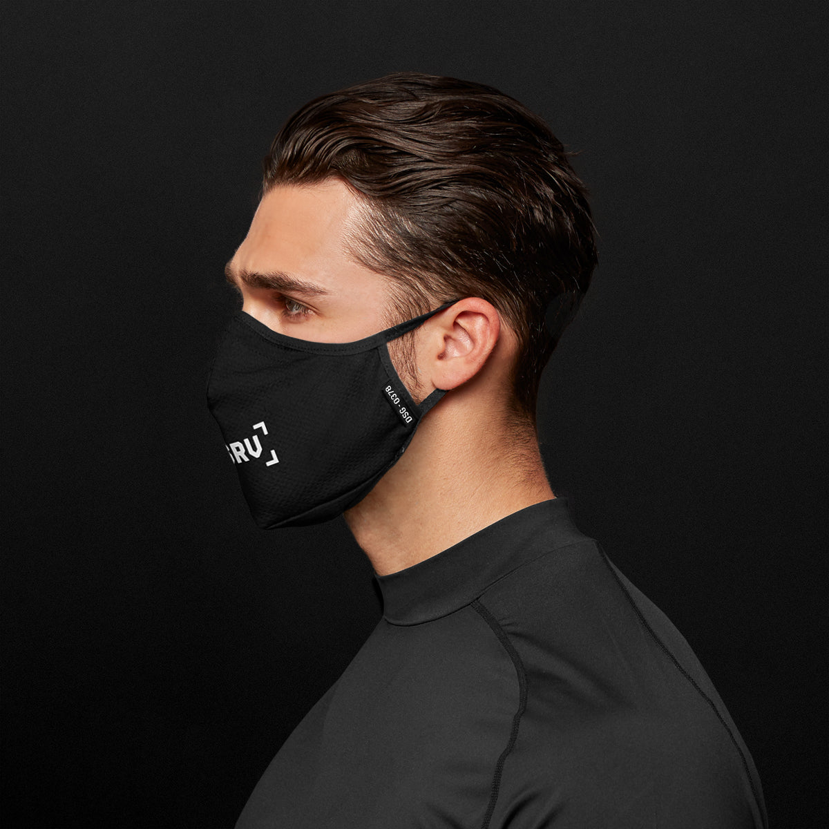 0378. Polygiene® Form-Fitting Face Mask (Pack of 2) - Black/White