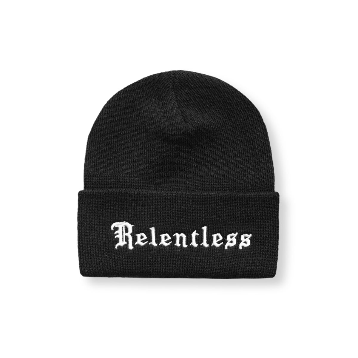 "Thermal Wool ""Relentless Pursuit"" Beanie - Black/White"
