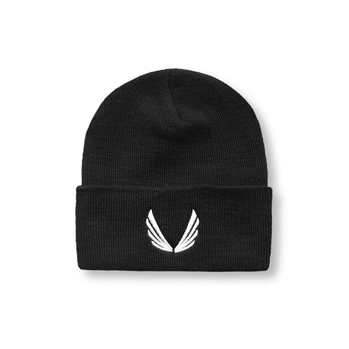 Thermal Wool Wings Logo Beanie - Black/White