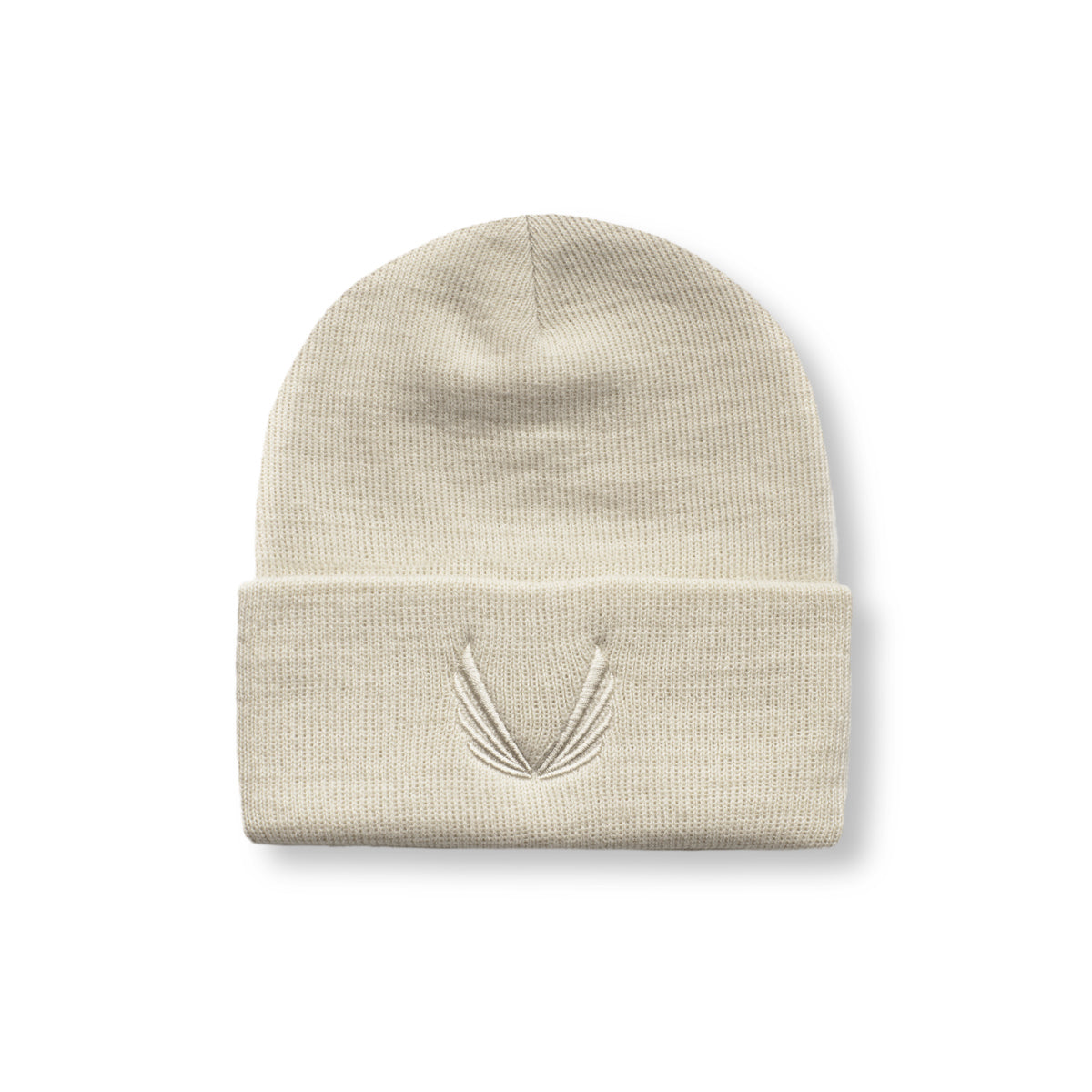 Thermal Wool Wings Logo Beanie - Off-White/Off-White