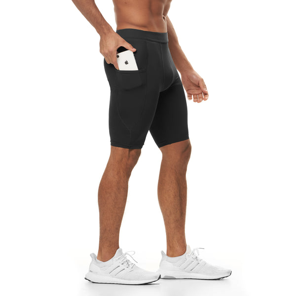 0286. Reflexx® Side Pocket Performance Short - Black