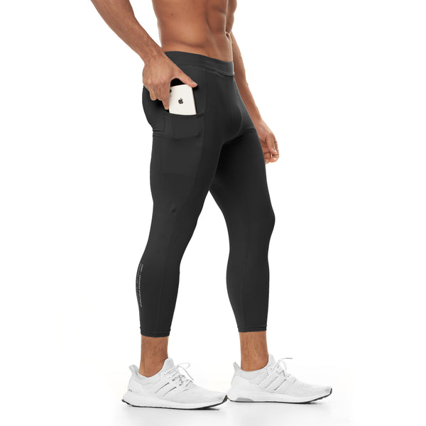 0267. Reflexx® 3/4 Side Pocket Performance Legging - Black