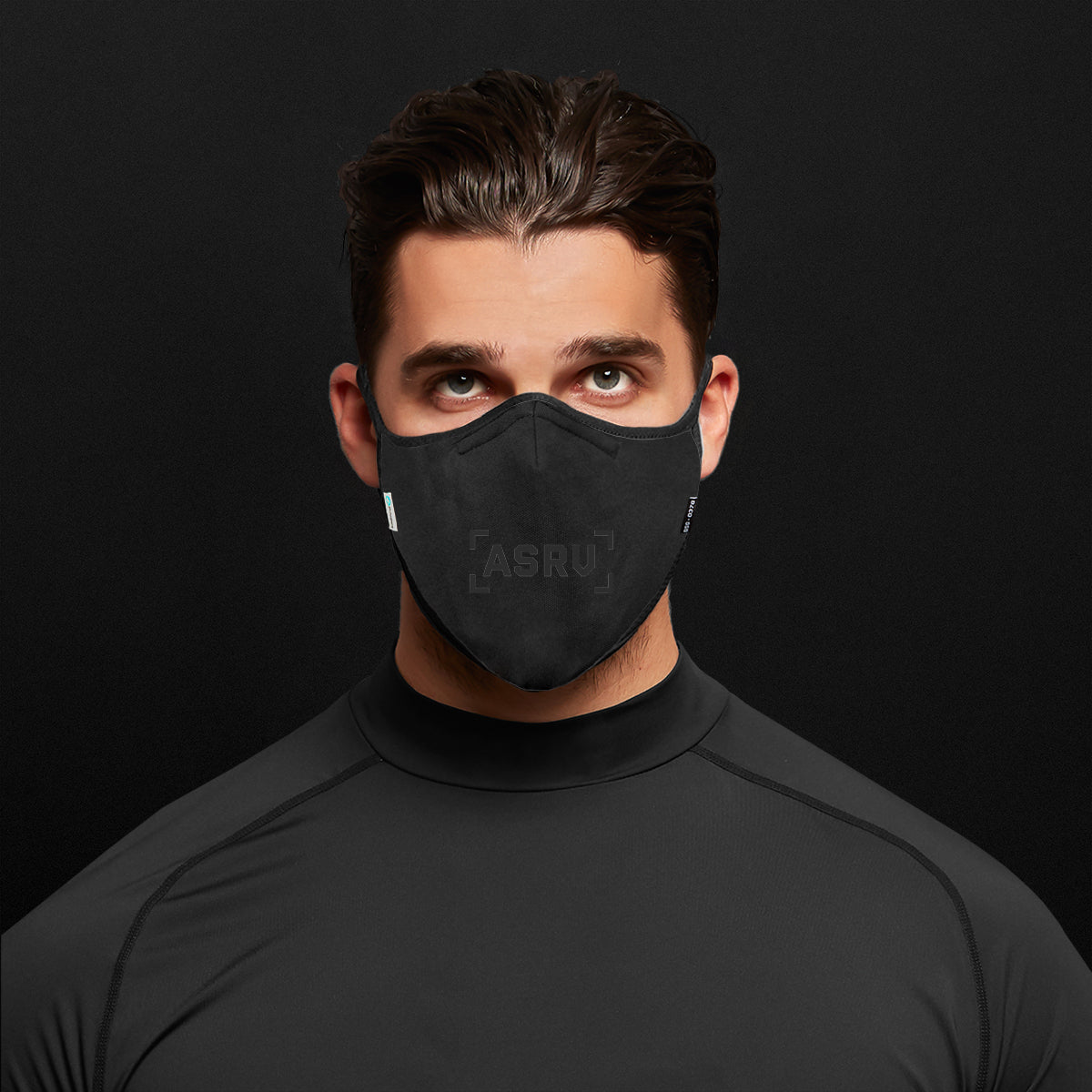 0383. ViralOff® Form-Fitting Face Mask (2 Pack with Bag) - Black/Black