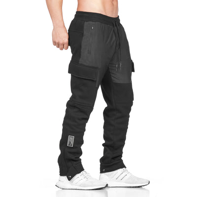 0217. Hipora® RainPlus™ Cargo Snap Button Jogger - Black