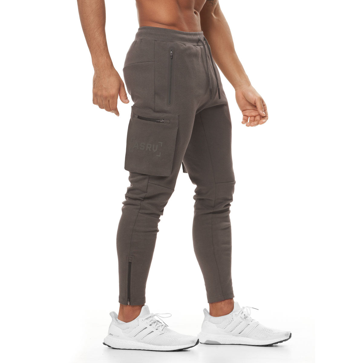 0400. Core Division Cargo Zip Jogger - Deep Taupe