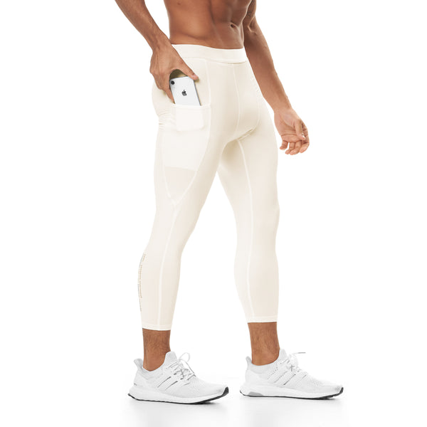 0267. Reflexx® 3/4 Side Pocket Performance Legging - Ivory Cream