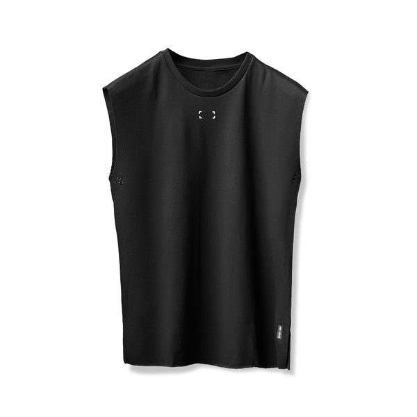 0340. French Terry Oversized Cutoff - Black
