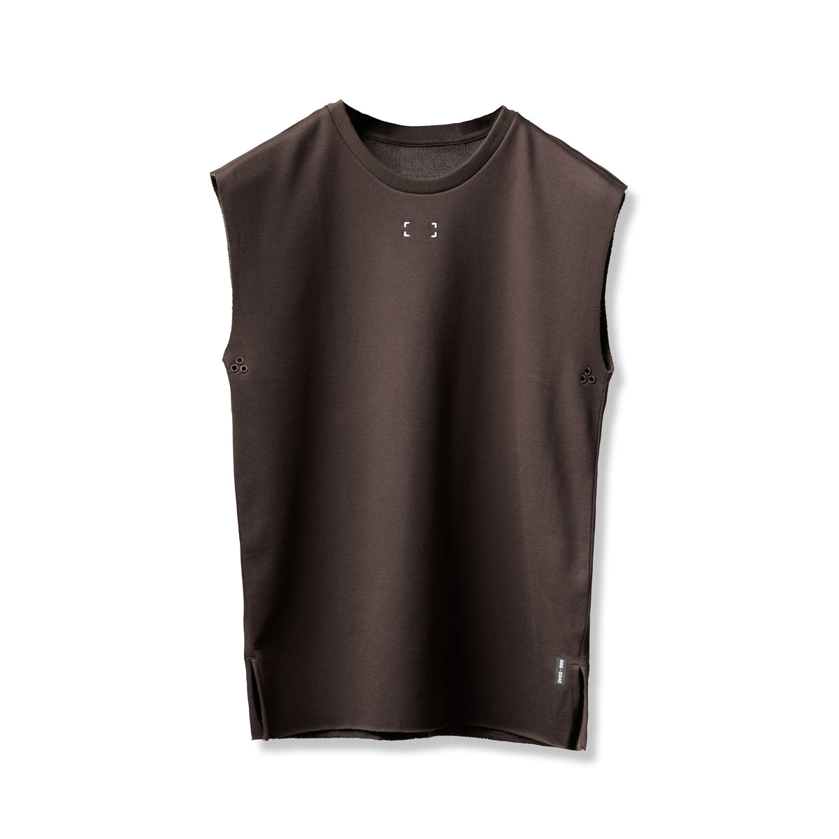0340. French Terry Oversized Cutoff - Dark Earth