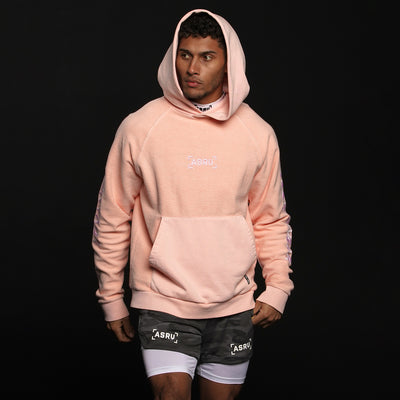 0234. Garment-Dyed Reverse Knit Hoodie - Faded Pink