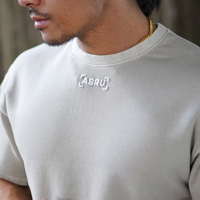 0240. SilverPlus® Technical Cinch Tee - Washed Off-White