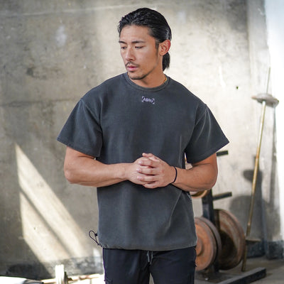 0240. SilverPlus® Technical Cinch Tee - Washed Black
