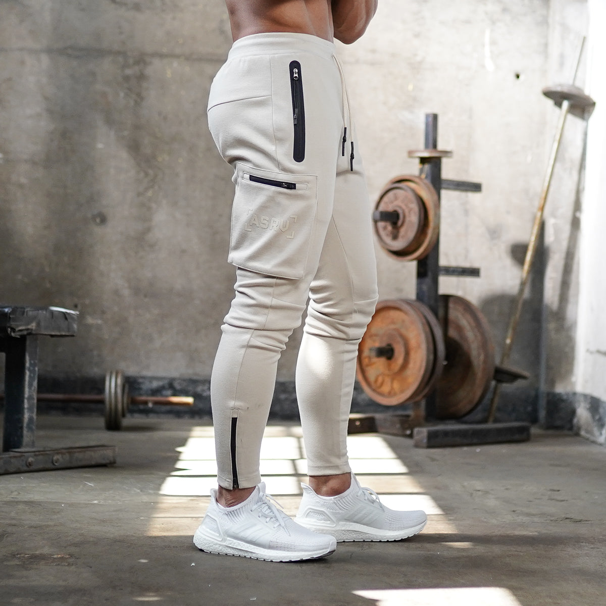 0242. Core Division Cargo Zip Jogger - Off-White