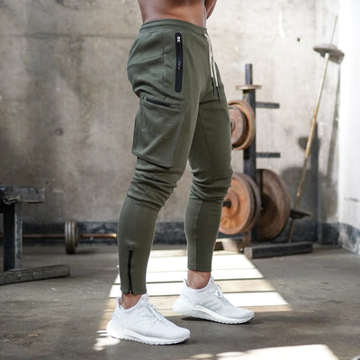 0242. Core Division Cargo Zip Jogger - Olive