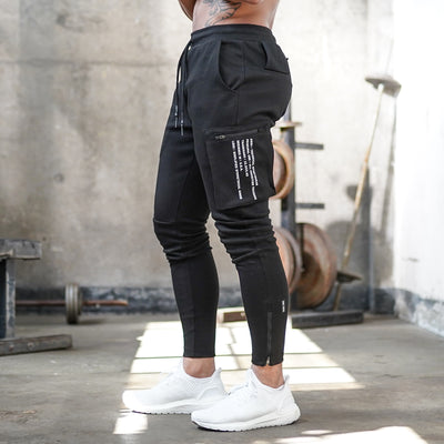0242. Core Division Cargo Zip Jogger - Black/White