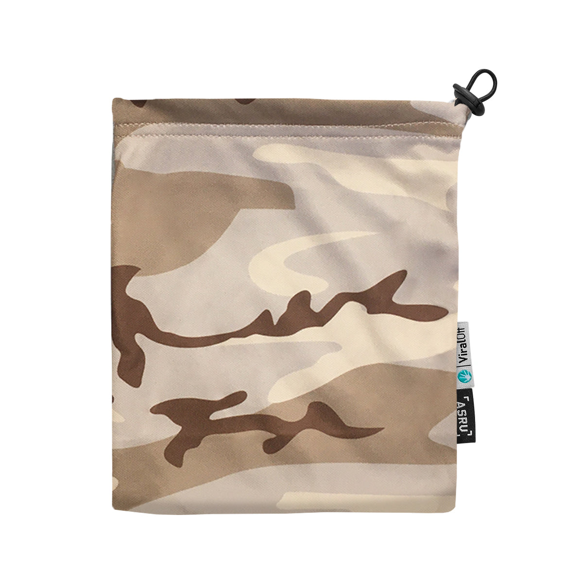 0383. ViralOff® Form-Fitting Face Mask (2 Pack with Bag) - Dune Camo