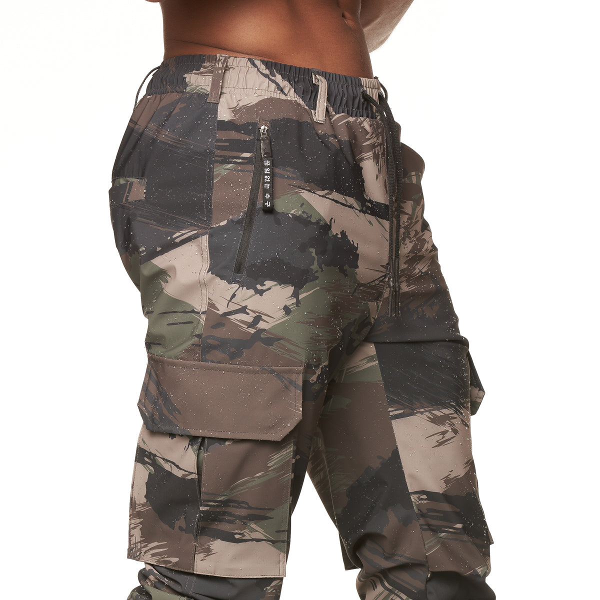 0350. TETRA® Cargo High Rib Jogger - Woodland Brushed Camo
