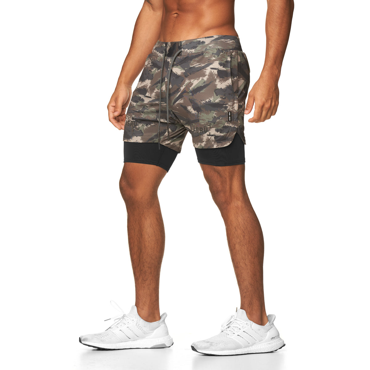 "0222. Silver-Lite® 5"" Liner Short - Woodland Brushed Camo"