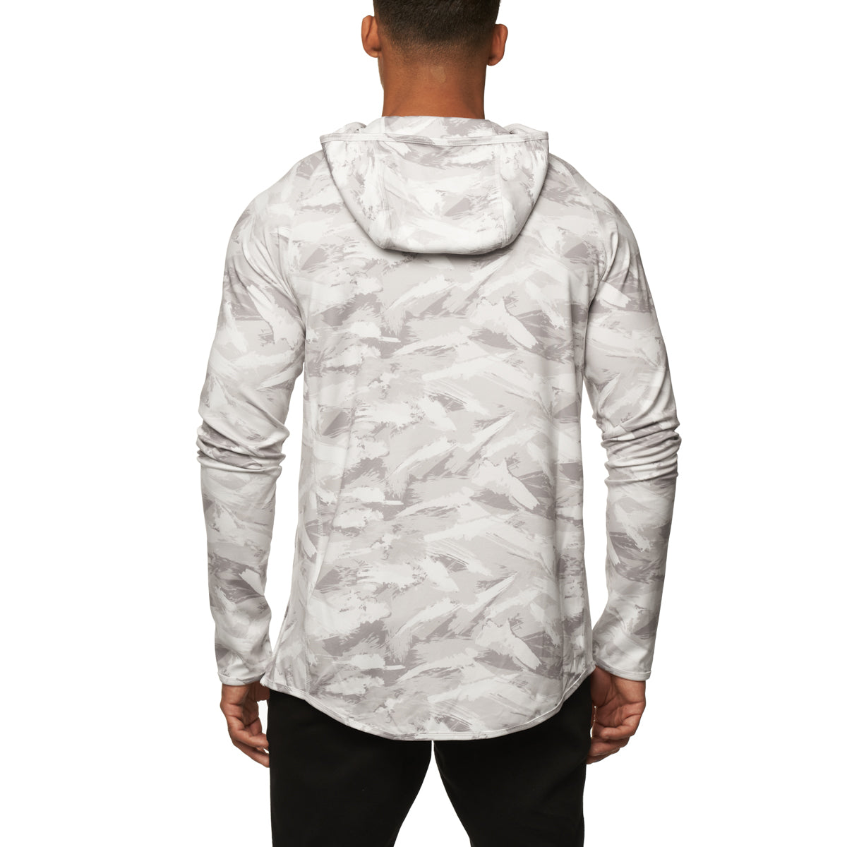 0327. SilverPlus® Fitted Hoodie - White Brushed Camo