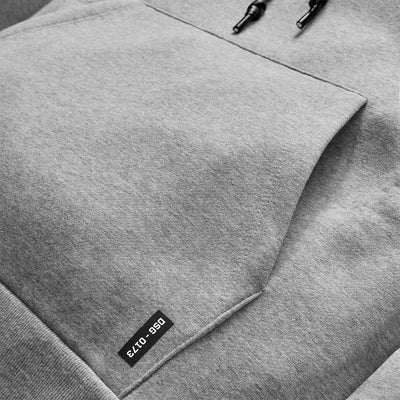 0173. RainPlus™ Essential Fleece Hoodie - Heather Grey