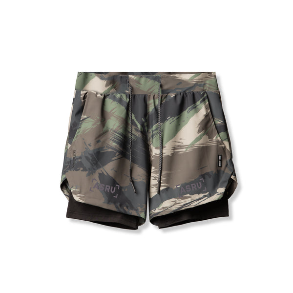 "0313. TETRA® 5"" Liner Short - Woodland Brushed Camo"