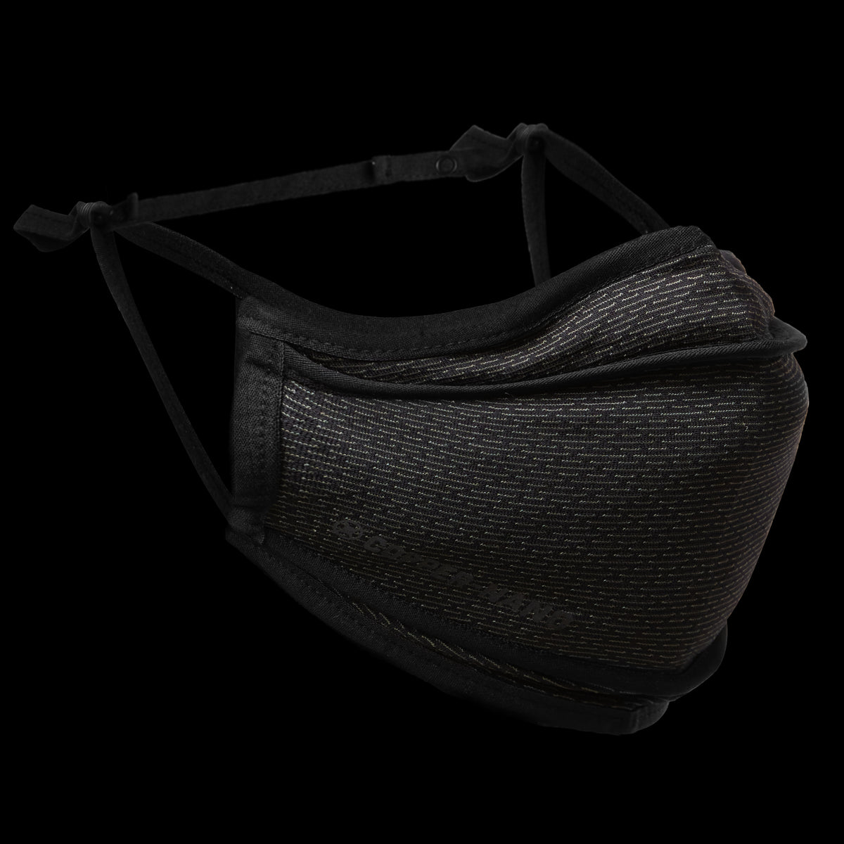 0384. Copper-Nano Tri-Fold Face Mask (with Bag) - Black