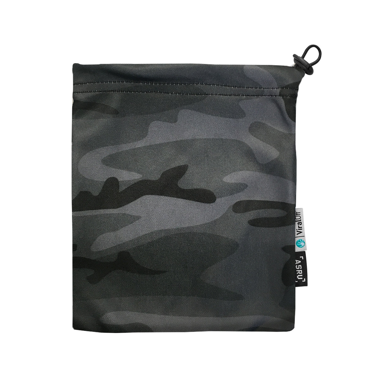 0383. ViralOff® Form-Fitting Face Mask (2 Pack with Bag) - Midnight Camo