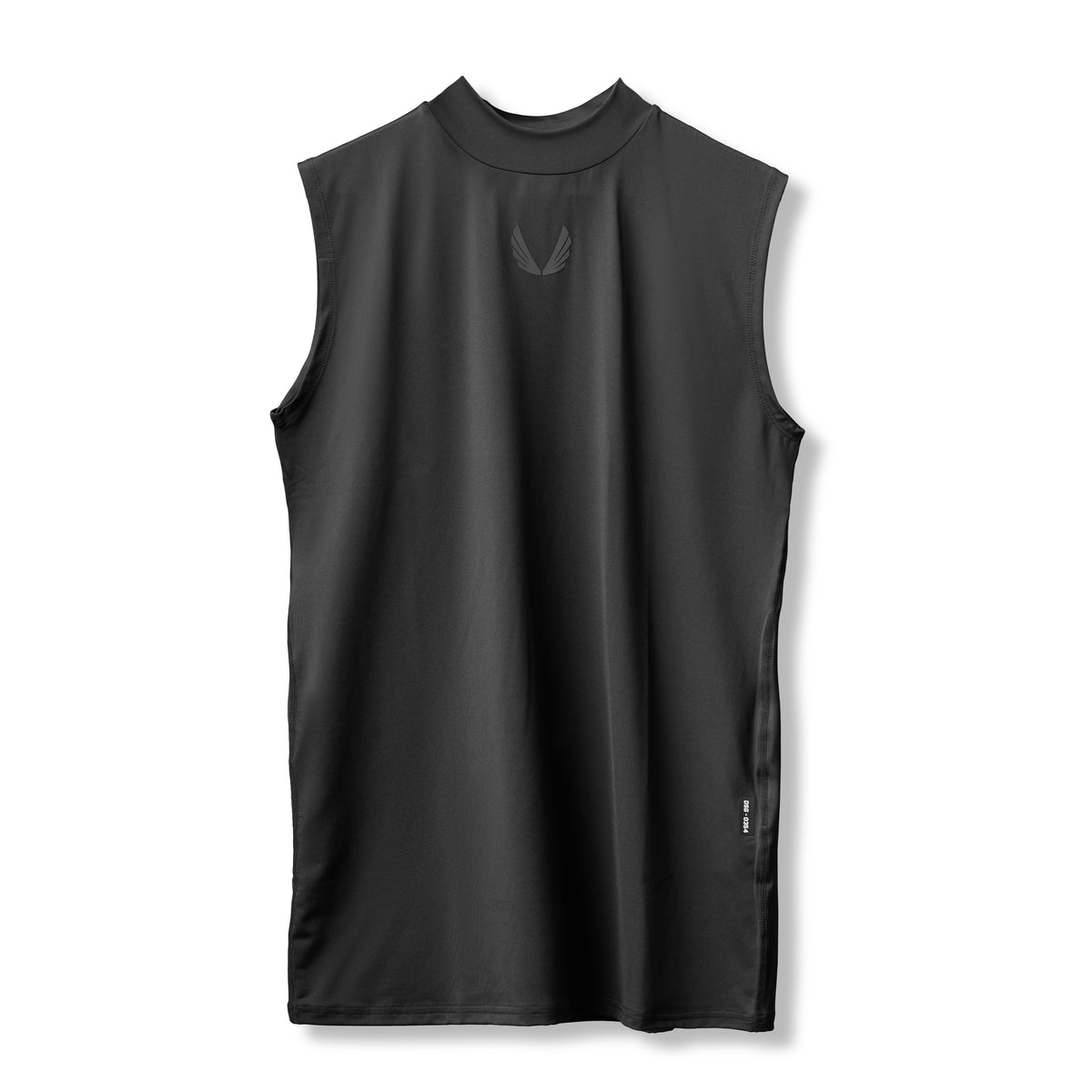 0354. SilverPlus® Mock Neck Muscle Tee - Black