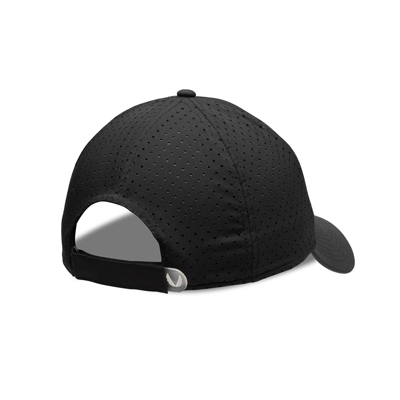 "Perforated Sport Cap ""R"" Embroidered Logo - Black/White"
