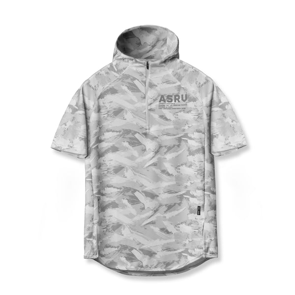 0328. SilverPlus® Fitted Short-Sleeve Hoodie - White Brushed Camo